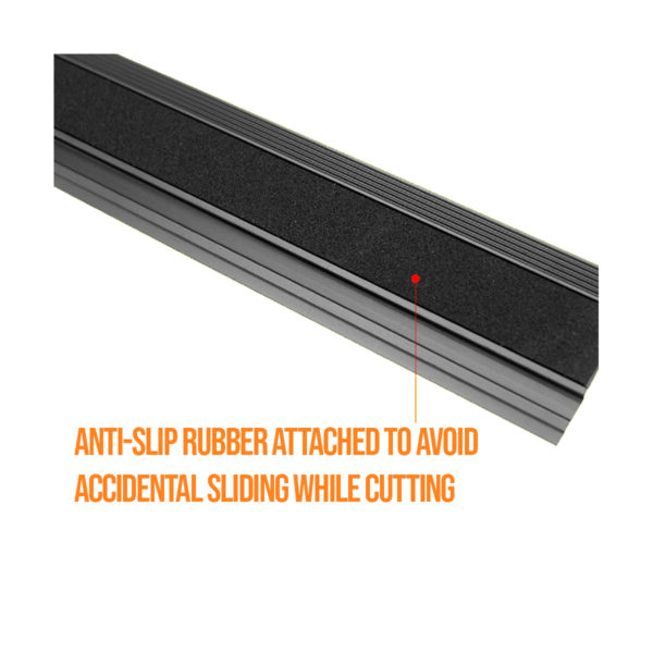 black aluminium ruler 20cm for model making woodwork carpentry perfect for architecture students or professional architect