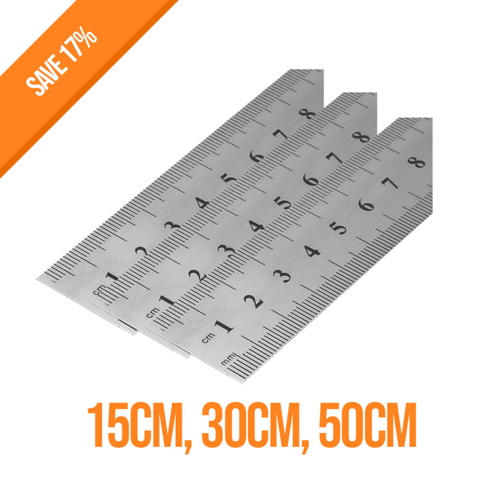 a high quality metal ruler 15cm, 30cm50cm in length great for architecture students, woodwork or engineer, design work
