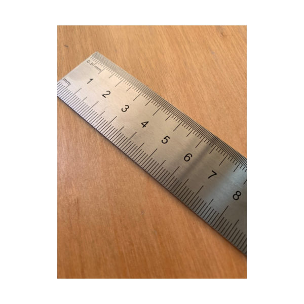 a high quality metal ruler 15cm in length great for architecture students, woodwork or engineer, design work