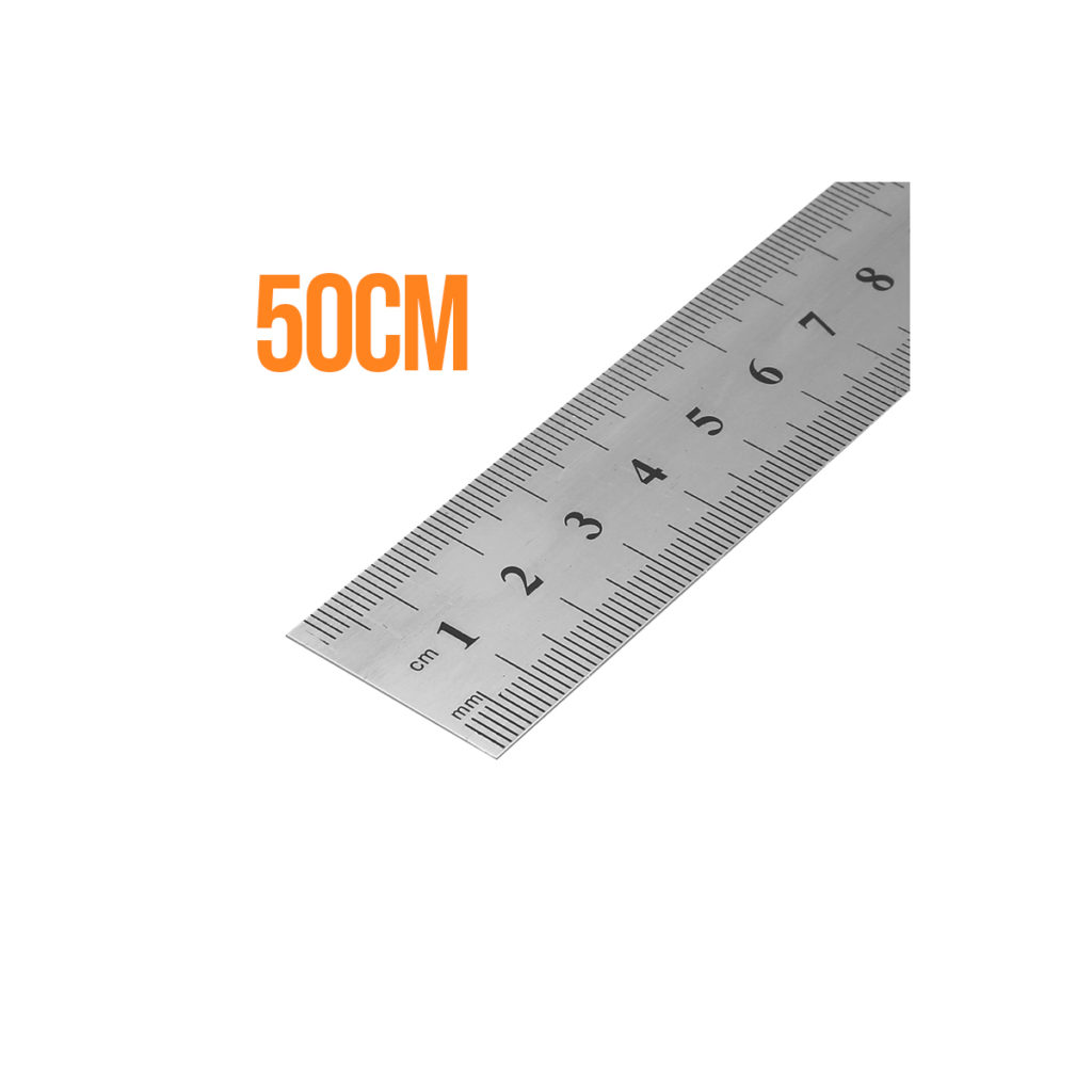 a high quality metal ruler 50cm in length great for architecture students, woodwork or engineer, design work