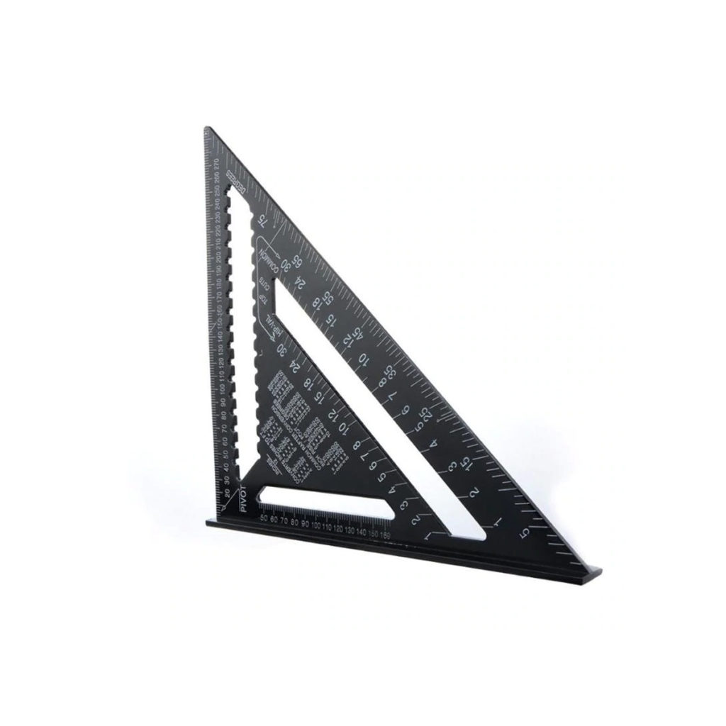 black triangle ruler for architecture student or professional architect great for woodwork carpentry and model making