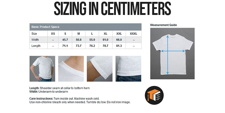 Care instructions and sizing better-min