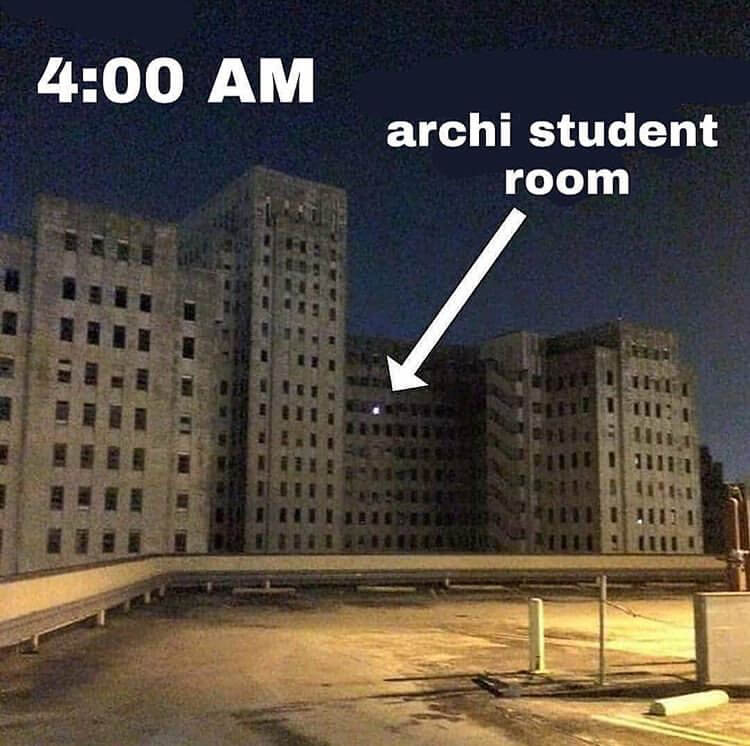 3 The best architecture memes for students in university or college