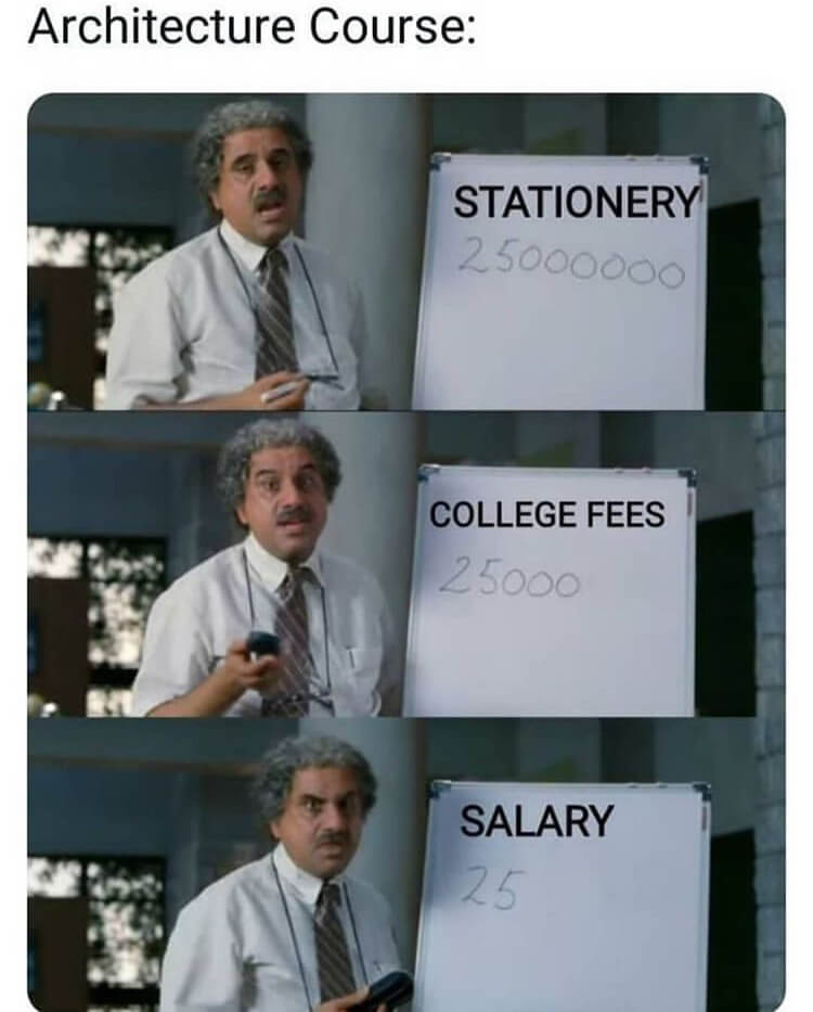 5 The best architecture memes for students in university or college