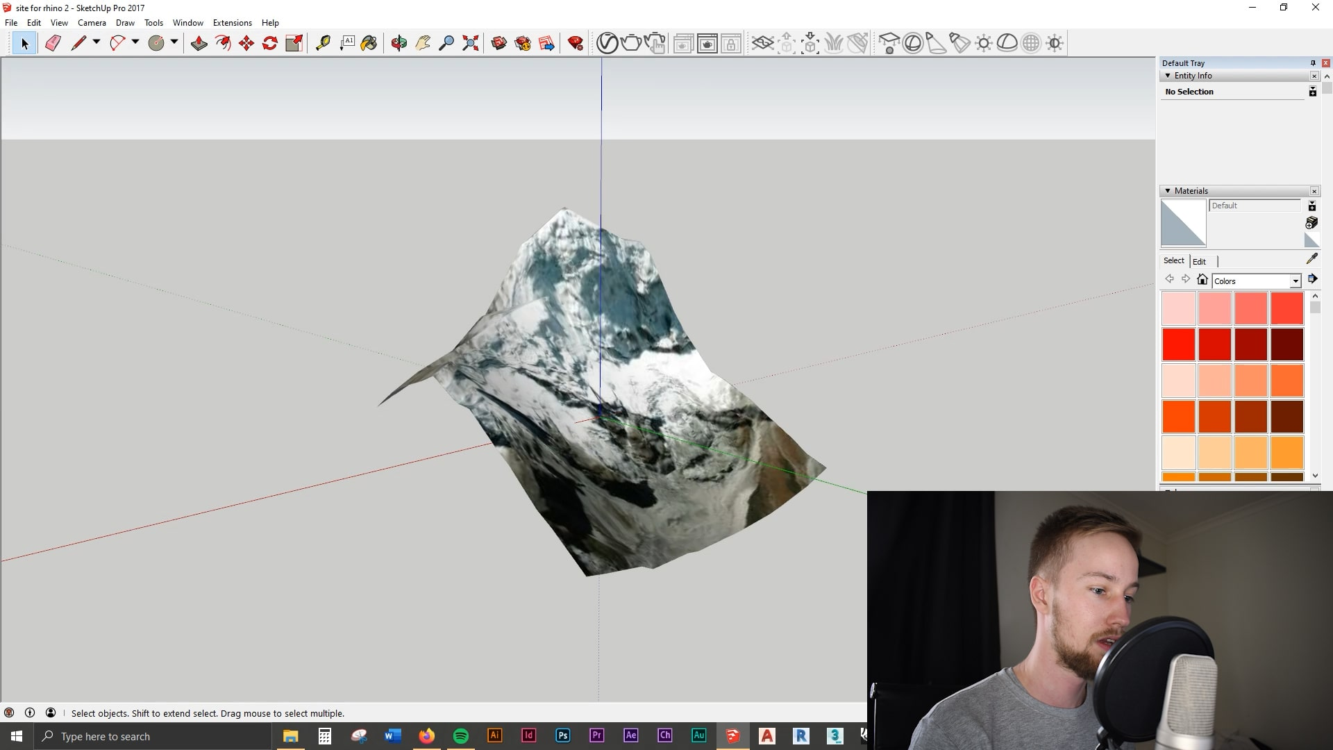 Part 1 How to Model a 3D Site from Google Earth in Under 60 Seconds | 3D Topography Site Terrain Model Tutorial | Sketchup + Rhino