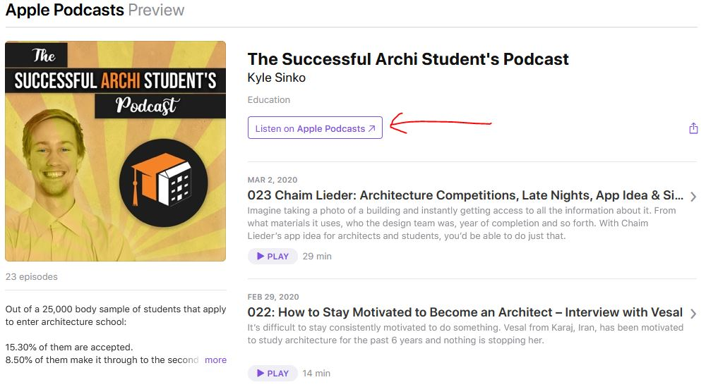 review architecture podcast on itunes