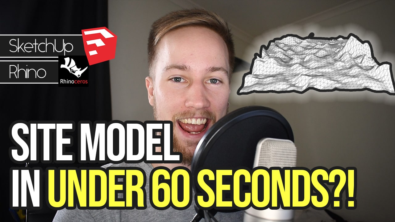 How to Model a 3D Site from Google Earth in Under 60 Seconds | 3D Topography Site Terrain Model Tutorial