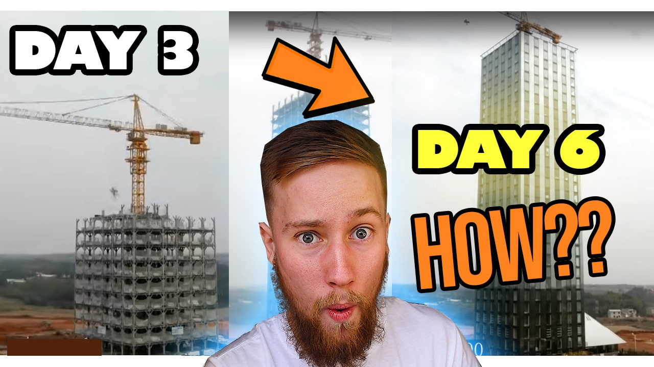 Architecture Student Reacts to 15 Storey Hotel Built in 6 Days – Extremely Fast Construction