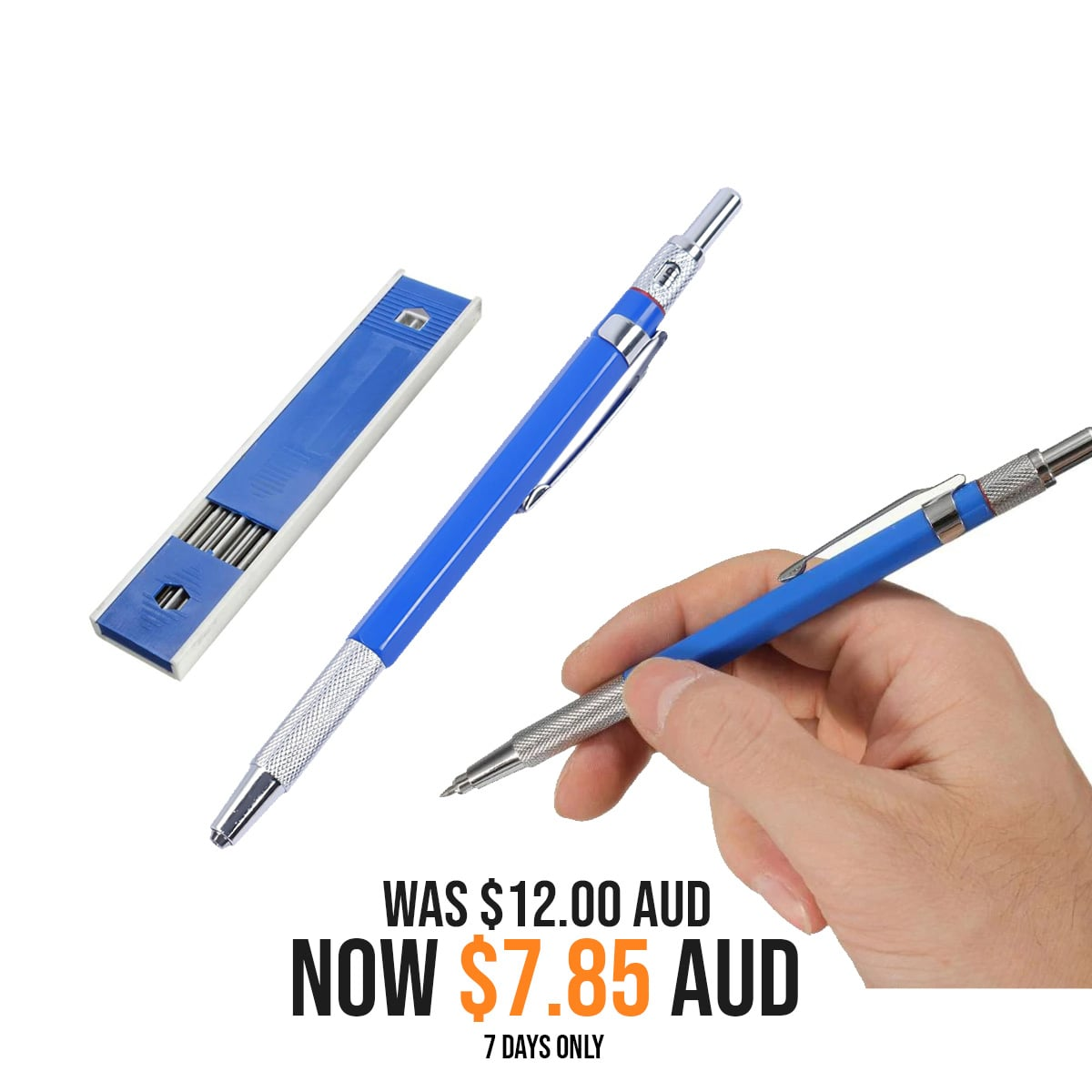 mechanical clutch architectural pencil for drafting and sketching