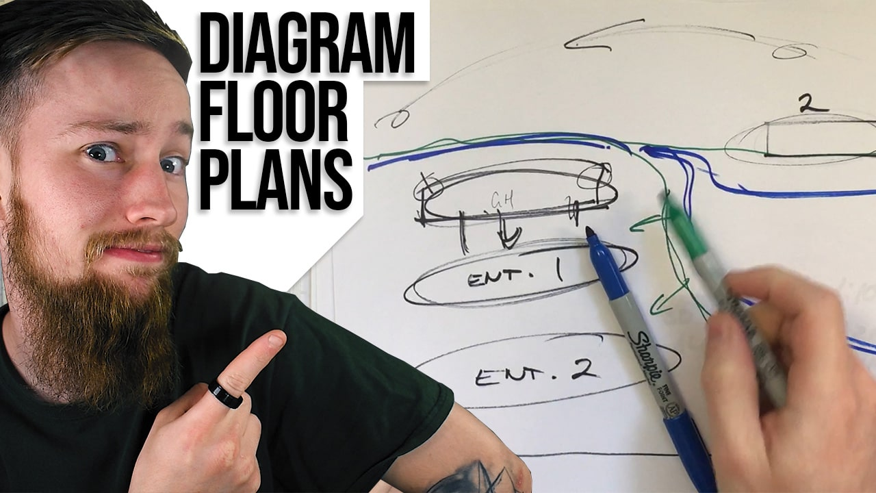 How to Draw Diagrammatic Architectural Floor Plans – Organising Space with Architectural Diagrams