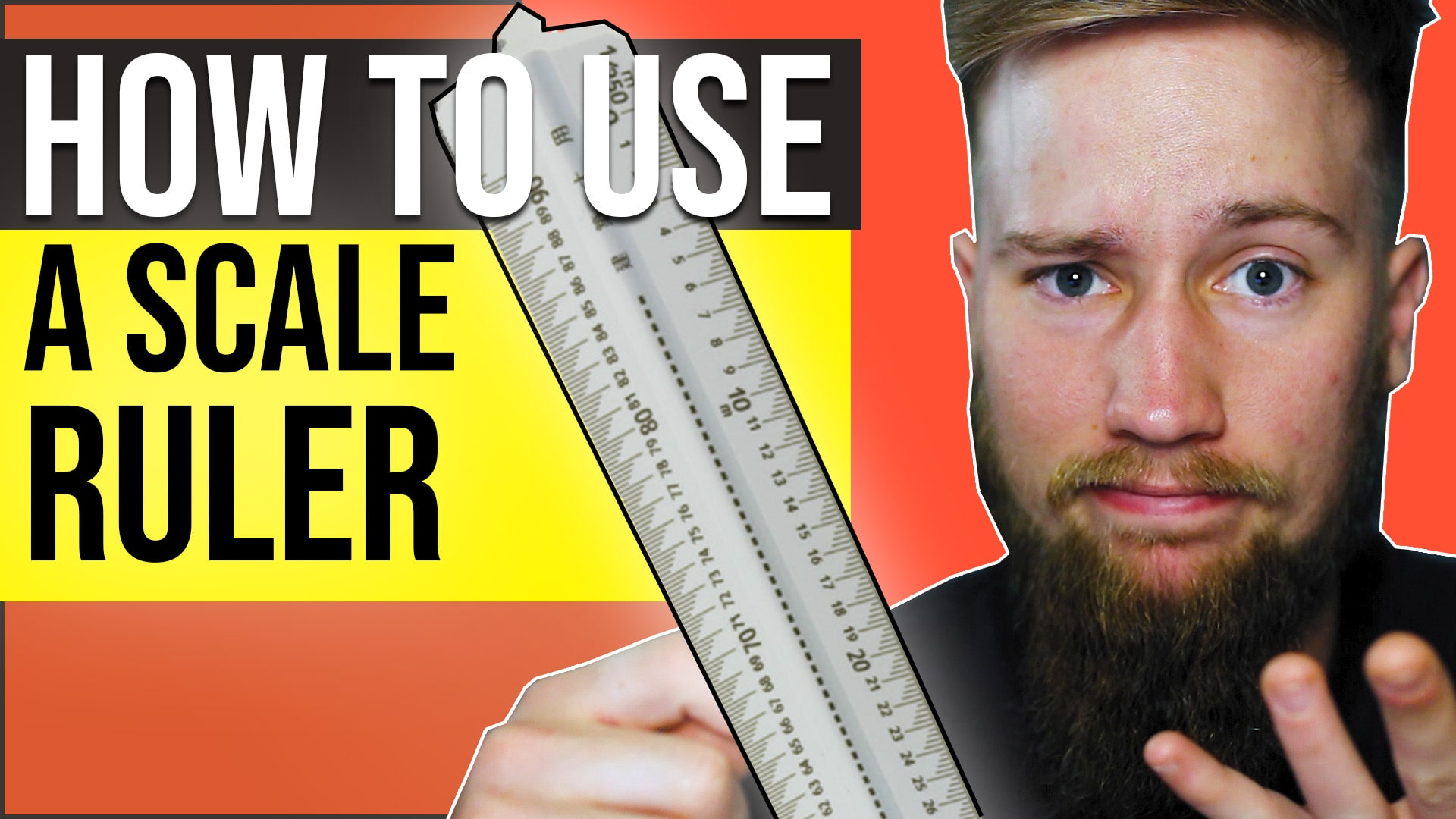 How to use a scale ruler to read and draw architecture and engineering scaled drawings